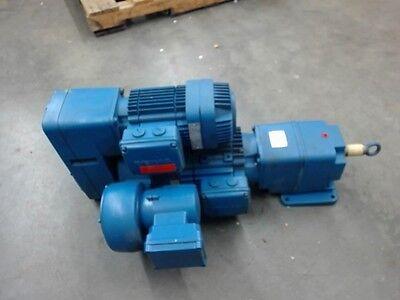 Demag Crane Motor Drive 3 Motors 2 Gearboxes Mounted In 1 Unit