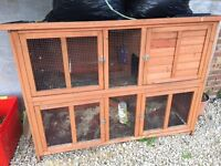 Rabbit / Guinea pig hutch for sale - two storey, very good condition £30 - collection only