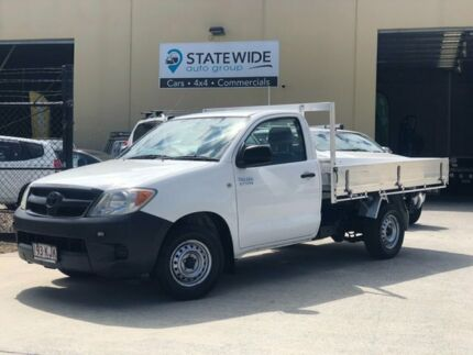 2007 Toyota Hilux TGN16R MY07 Workmate 4x2 White 5 Speed Manual Cab Chassis East Brisbane Brisbane South East Preview