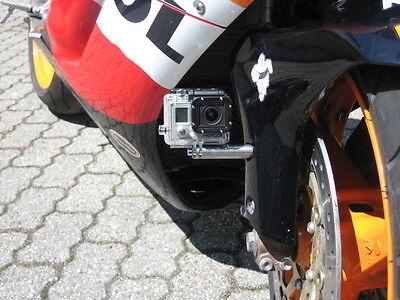 GoPro Rollei Motorrad Halterung M6 vorne / hinten Edelstahl Befestigung Adapter