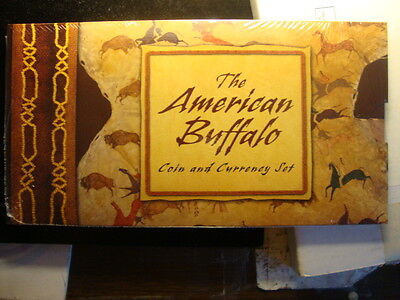 2001 BUFFALO SILVER COIN AND CURRENCY SET, MINT SEALED
