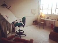 Large artists studio, Hove/ Portsalde border. Suit painter(s) Share option