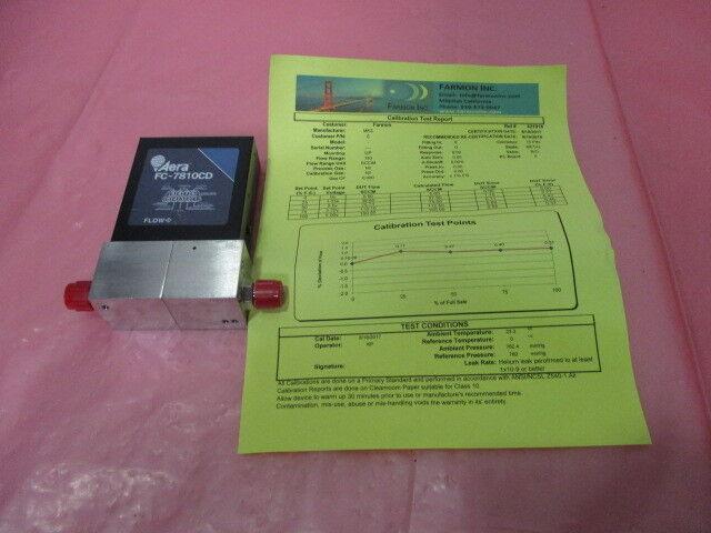 Aera FC-7810CD Mass Flow Controller MFC C2F6 5 SLM Novellus 22-117957-00, 421444