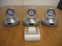 3 BATTERY POWERED DISPLAY LIGHTS WITH REMOTE CONTROL