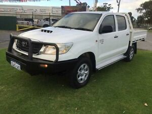 2011 Toyota Hilux KUN26R MY12 SR (4x4) Glacier White 5 Speed Manual Dual Cab Chassis Maddington Gosnells Area Preview