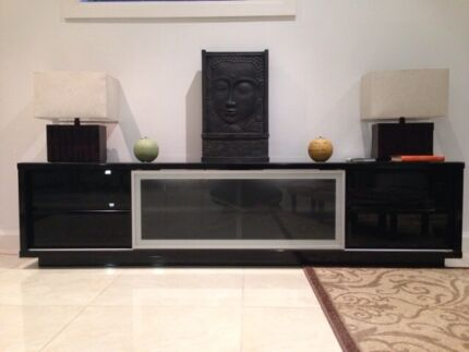 Black Low Line Tv Entertainment Unit Kellyville The Hills District Preview