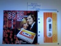 A2Z. 9x RARE NEW/USED BOOTS AUDIO 1970s/80s/90s BLANK CASSETTE TAPES C60/90/100/120 TYPE 1 & TYPE 2