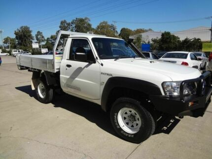 2008 Nissan Patrol GU MY08 DX (4x4) White 5 Speed Manual Cab Chassis Wacol Brisbane South West Preview