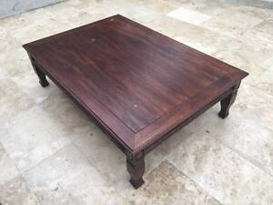 Dark wood, large coffee table St Ives Ku-ring-gai Area Preview