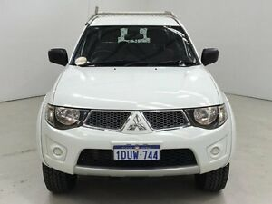 2011 Mitsubishi Triton MN MY12 GL-R Double Cab White 5 Speed Manual Utility Edgewater Joondalup Area Preview
