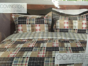 Queen Size Plaid Bed Cover
