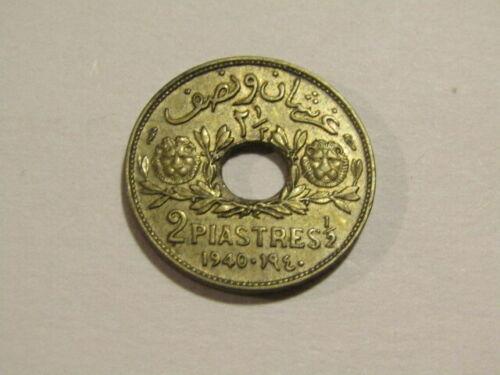 Syria 1940 2-1/2 Piastres Au Coin