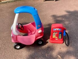 Little Tikes Cozy Coupe Princess with Little Tikes Cozy Pumper