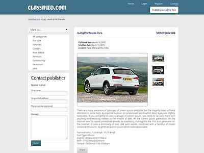 Classified Website - Clean Responsive Free Hosting Installation