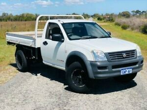 2006 Holden Rodeo RA MY06 DX White 5 Speed Manual Cab Chassis