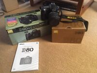 Nikon D80 DSLR with Sigma 18-200 F 3.5-6.3 lens - boxed with all manuals & 4gb SD card