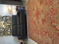 FRENCH STYLE AUBUSSON RUG. 221cmx300cm. ELEGANT, HAND MADE, NEEDLE POINT, RESTORED. £995