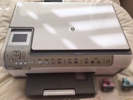 HP Photosmart C6280 All-in-one Photo Printer c/w instructions and spare cartridges