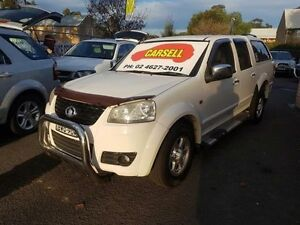 2011 Great Wall V240 K2 (4x4) White 5 Speed Manual Dual Cab Utility Campbelltown Campbelltown Area Preview