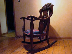 Antique Wooden Rocking Chair London Ontario image 4