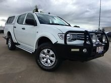 2013 Mitsubishi Triton MN MY13 GLX Double Cab White 5 Speed Manual Utility Garbutt Townsville City Preview