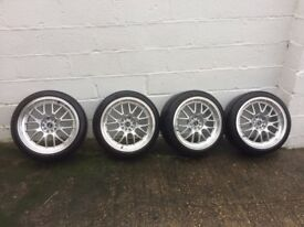 Alloy wheels- 4 X Rota MXR-F-18 with tyres and bolts