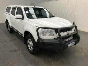 2014 Holden Colorado RG MY14 LX (4x4) Summit White 6 Speed Automatic Crew Cab Pickup Moonah Glenorchy Area Preview