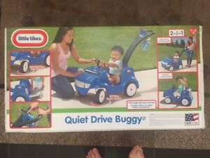 Little Tikes Quiet Drive BLUE Buggy 2 In 1 Toy Car - New in Box