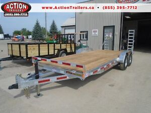 PROFESSIONAL SERIES 7X18 GALVANIZED EQUIPMENT TRAILER N&N London Ontario image 1