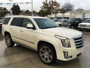 2015 Cadillac Escalade Premium in White Pearl with Kona brown in