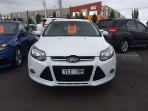 2012 Ford Focus LW MkII Sport PwrShift White 6 Speed Sports Automatic Dual Clutch Hatchback Mill Park Whittlesea Area Preview