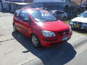 2002 Hyundai Getz TB GL Red 4 Speed Automatic Hatchback Holroyd Parramatta Area Preview