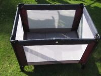 Mamas and Papas Travel Cot with Carry Case in VGC