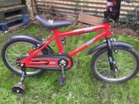 Child 1st bike with stabilisers in mint condition