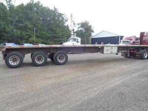 2000 FONTAINE 48 TRIDEM COMBO FLAT BED TRAILER Kitchener / Waterloo Kitchener Area image 3