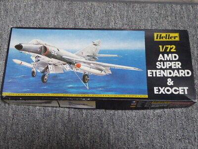 Maquette vintage Heller AMD Super Etendard Exocet au 1/72