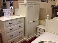 New Hambleton Hamilton cream bedside cabinet £99