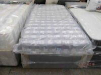 *BRAND NEW FACTORY SEALED*SINGLE BED DIVAN BASE + MATTRESS/Free Local Delivery/3feet inches wide)