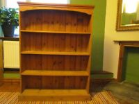 BOOKCASE - FREESTANDING - QUALITY SOLID PINE - 4 SHELVES