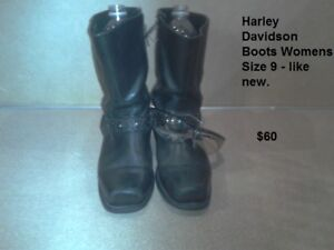 Harley Davidson Motorcycle Boots - Size 9 Female.  Mint.