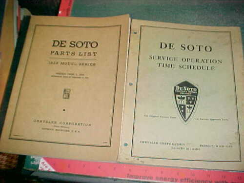 1935  DESOTO ILLUSTRATED BODY & CHASSIS PARTS & ACCESSORIES NUMBERED LIST xlnt