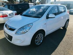 2011 Hyundai i20 PB MY12 Active White 4 Speed Automatic Hatchback Woodville Park Charles Sturt Area Preview