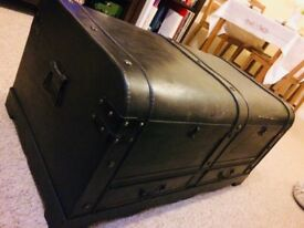 Vintage large wooden treasure trunk (chest)