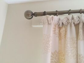 Cream Curtains, Embossed pattern, including tie backs