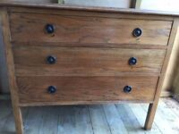 Stripped Oak chest of draws