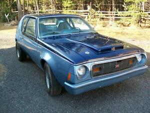 1974 Gremlin X. V8, 4 spd. Modified. With truck load of parts.