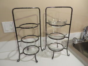 3 tiered metal stands