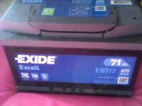 2 EXIDE 71AH BRAND NEW BATTERIES