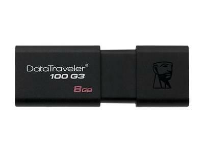 Kingston 8GB DataTraveler 100 G3 USB 3.0 Flash Drive (DT100G3/8GB)