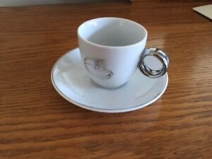 brand new espresso cups with wedding bands print